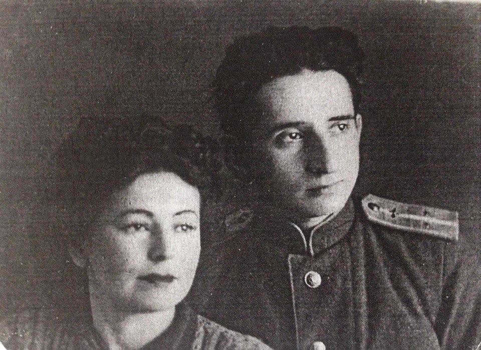 Илья Давидович Рапопорт с женой Раисой