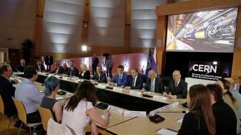 Встреча Дмитрия Медведева с российскими учёными, работающими в ЦЕРН